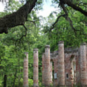 Pillars Of Sheldon Church Ruins Art Print