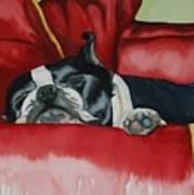 Pillow Pup Art Print