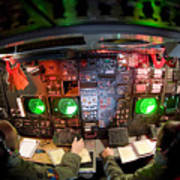 Pilots At The Controls Of A B-52 Art Print by Stocktrek Images