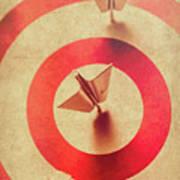 Pin Plane Darts Hitting Goals Art Print