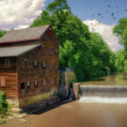 Pine Creek Gristmill Art Print