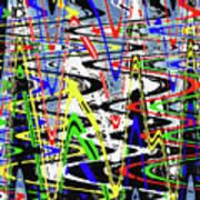 Pine Tree Abstract ,3448wt Art Print
