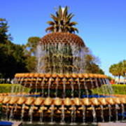 Pineapple Fountain Charleston Sc Art Print