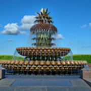Pineapple Fountain Art Print