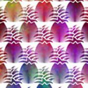 Pineapple Repeat Art Print