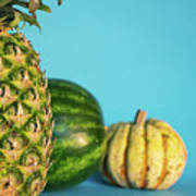 Pineapple, Watermelon, Pumpkin Art Print