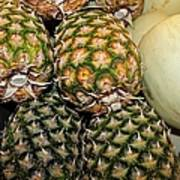 Pineapples And Melons Art Print