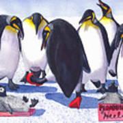 Pinguino Heels Art Print