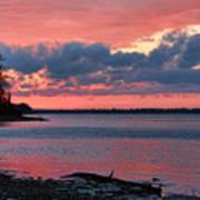Pink And Blue Sunset Art Print