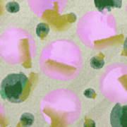 Pink And Green Inspiration Art Print