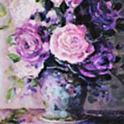 Pink And Purple Roses Art Print