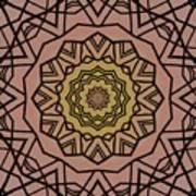 Pink And Yellow Kaleidoscope 1 Art Print
