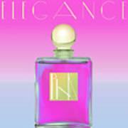 Pink Art Deco Perfume Art Print