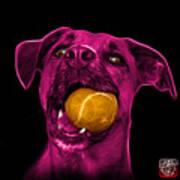 Pink Boxer Mix Dog Art - 8173 - Wb Art Print