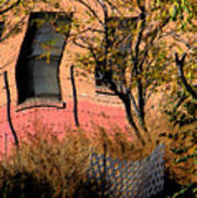 Pink Brick House Art Print