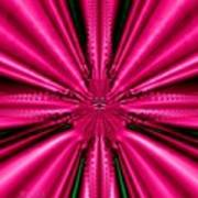 Pink Brocade Fabric Fractal 55 Art Print