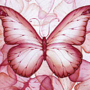 Pink Butterflies Art Print by Christina Meeusen