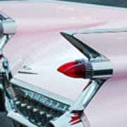 Pink Cadillac Eldorado Tail Fin Art Print