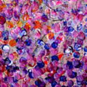 Pink California Splatter Map Art Print