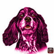 Pink Cocker Spaniel Pop Art - 8249 - Wb Art Print