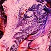 Pink-dragon Art Print