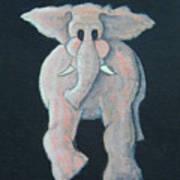 Pink Elephant 1 Art Print