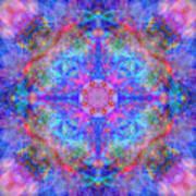 Pink Flower Of Life Mandala Art Print