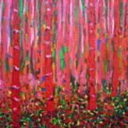 Pink Forest Art Print