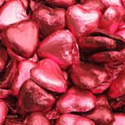 Pink Heart Chocolates I Art Print
