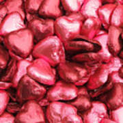 Pink Heart Chocolates II Art Print