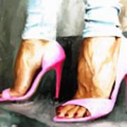Pink Heels Art Print
