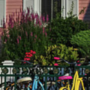 Pink House Bikes Cape May Nj Art Print