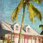 Pink House Palm Art Print
