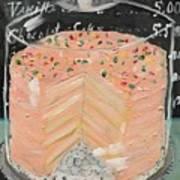 Pink Layer Cake Art Print