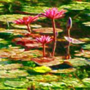 Pink Lotus Flower 2 Art Print