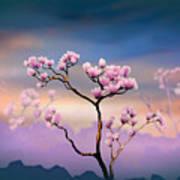 Pink Magnolia - Bright Version Art Print