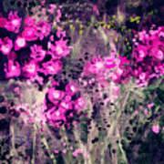 Pink Majestic Garden- Art By Linda Woods Art Print