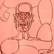 Pink Man Art Print