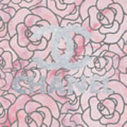 Pink Marble Chanel Art Print