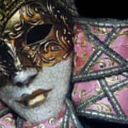 Pink Mask Art Print