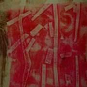 Pink Monotype Art Print