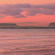 Pink Morning In The Bay Of Thunder Art Print