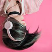 Pink Music Time Art Print
