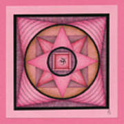Pink Om Thing Art Print