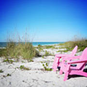Pink Paradise Vanilla Pop Art Print