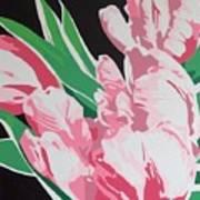 Pink Parrots Art Print