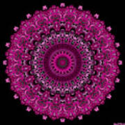 Pink Passion No. 7 Mandala Art Print