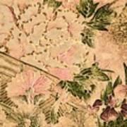 Pink Peonies - Kimono Series Art Print