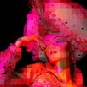 Pink Pixelated Princess Art Print