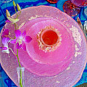 Pink Place Setting Art Print